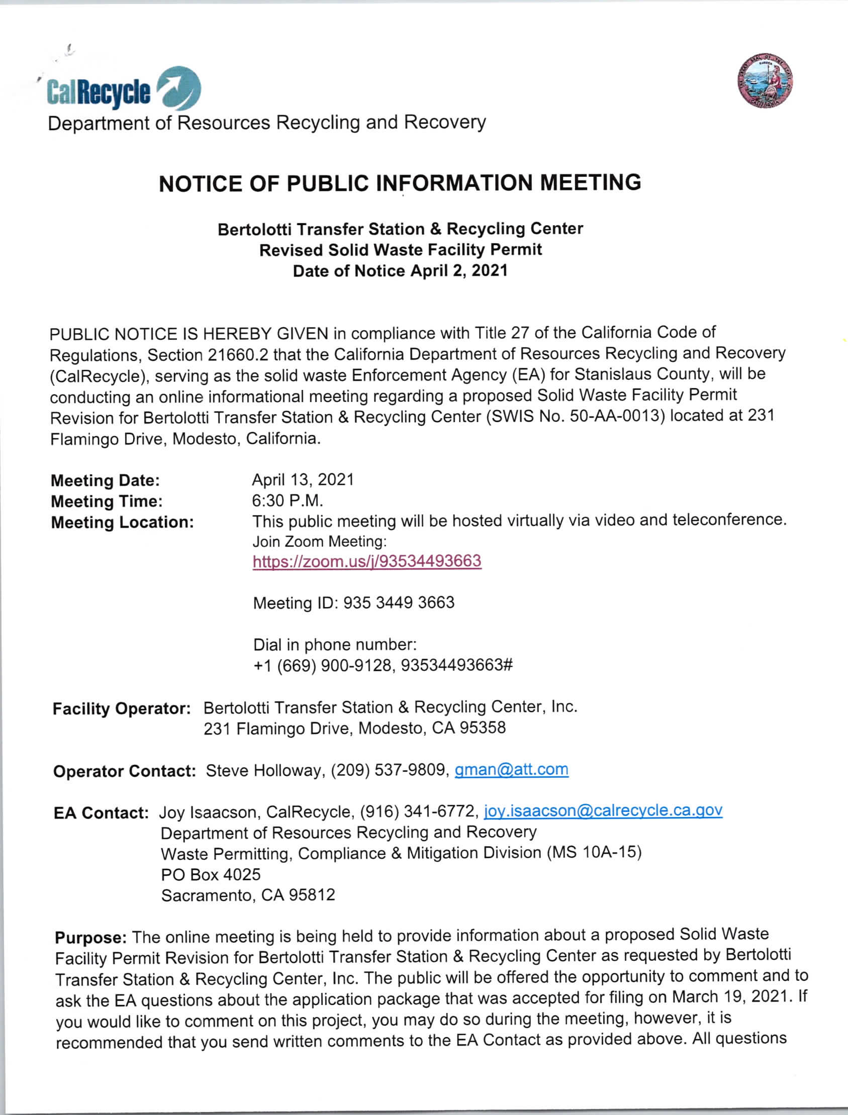 Notice of Public Hearing, Transfer Station, English_Page_1